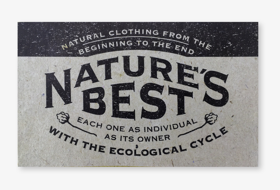 Natures Best Logo auf Recycling Papier