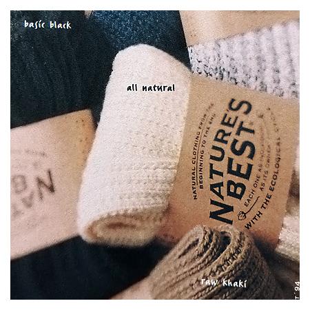 Natures Best auf Socken-Etiketten