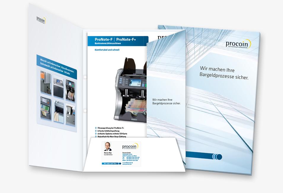 Procoin Mappe mit Broschüren