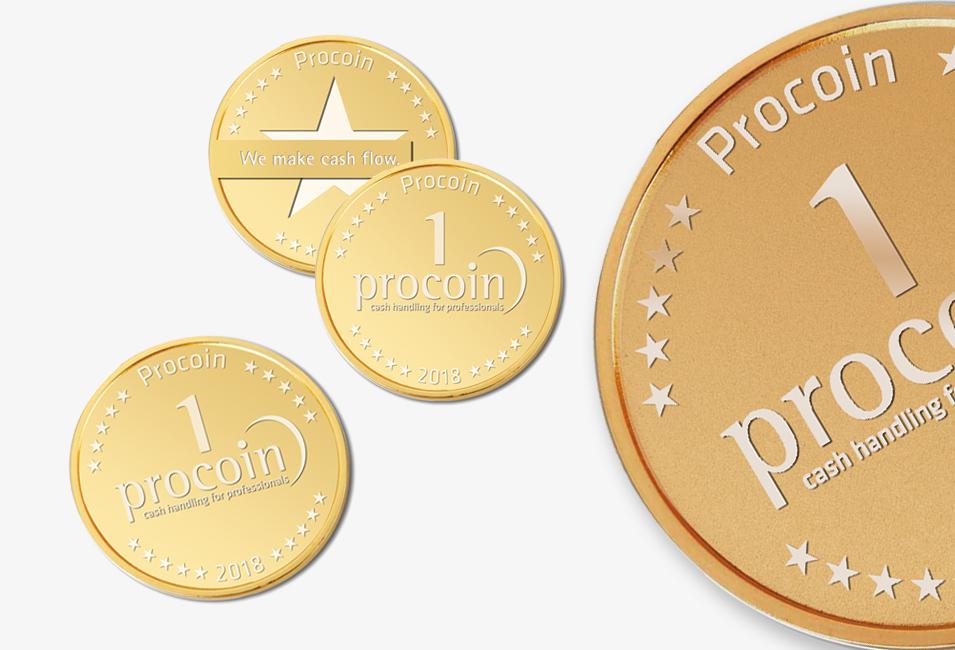 Procoin Münzen in gold