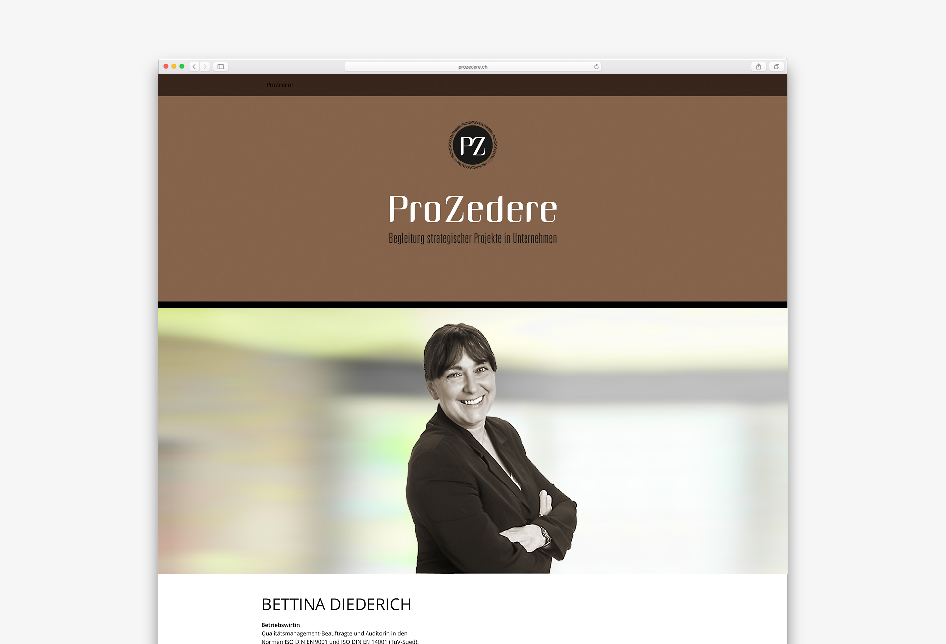 Screenshot der ProZedere Website