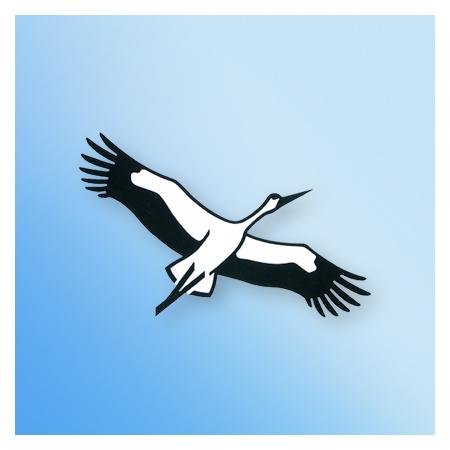 Naturschutzbund Signet fliegender Storch